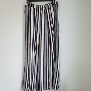 H&M Conscious Wide Leg Long Stripe Culottes